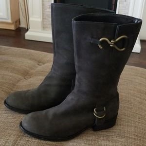Cole Haan Mid-Calf Leather Boots